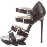 Camilla Skovgaard Shearling-Trimmed Platform Sandals