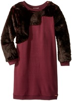 Junior Gaultier Faux Fur Dress Girl's Dress