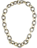 David Yurman Two-Tone Extra Large Oval Link Necklace