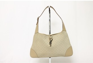 Gucci Hobo Beige Cotton Handbags