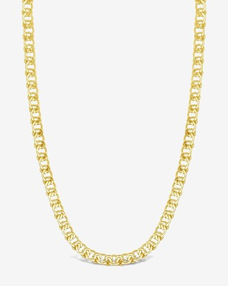 Express Sterling Forever Interlocking Curb Chain Necklace