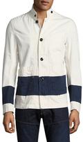G Star Cotton Bronson Striped Blazer