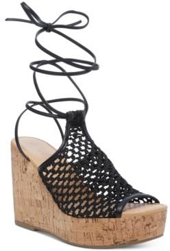 Wild Pair Haylinn Tie-Up Platform Wedges, Created for Macy's Women's Shoes