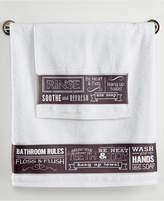 Avanti Chalk it Up Bath Towel Bedding