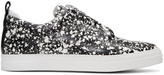Pierre Hardy Black and White Slider Slip-on Sneakers