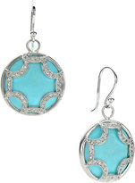 Elizabeth Showers Turquoise Maltese Hoop Earrings
