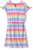 Classic Girls Plus Novelty Sleeve Pattern Dress-Creole Red
