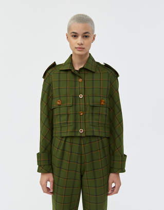 Simon Miller Jawa Jacket in Forest Plaid