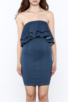 MEBON Strapless Denim Dress