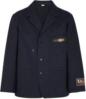 Gucci Navy cotton-twill jacket
