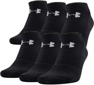 Under Armour UA Charged Cotton 2.0 No Show Socks - 6-Pack