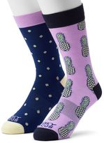 Men's Funky Socks 2-pack Pineapple Derby Socks