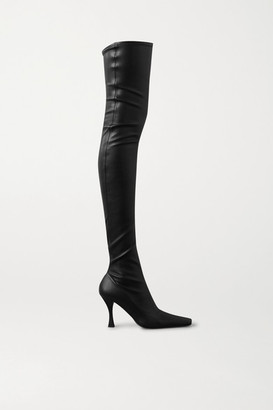 Proenza Schouler Stretch-leather Over-the-knee Boots - Black