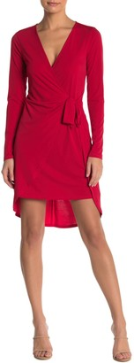 BCBGeneration Long Sleeve Faux Wrap Dress