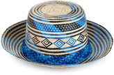 Yosuzi Blue Multi Jotsü Straw Hat
