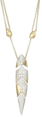 Adriana Orsini Zena Two-Tone Sterling Silver & Cubic Zirconia Adjustable Pendant Necklace