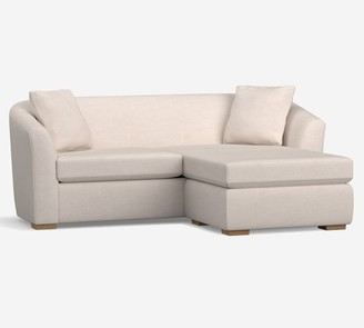 Pottery Barn Bodega Upholstered Sofa With Rev Chaise Sectional