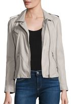 Rebecca Taylor Washed Leather Cropped Jacket