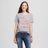 Well Worn Women's Fries Before Guys Graphic T-Shirt Heather Gray - Well Worn (Juniors')