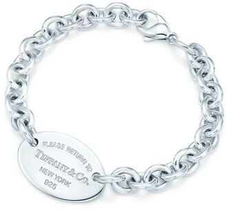 Tiffany & Co. Return to TiffanyTM oval tag bracelet in sterling silver, large