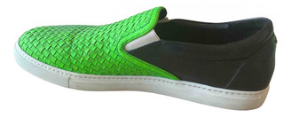 DSQUARED2 Green Leather Trainers