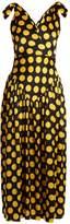 DURO OLOWU Large polka-dot print silk-satin gown
