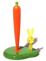 Alessi Bunny & Carrot Kitchen Roll Holder - Green