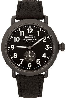 Shinola Black and Gunmetal The Runwell 41mm Watch