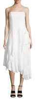 Shoshanna Embroidered Asymmetrical Gown