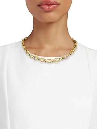 Gas Bijoux Escale 24K Goldplated & Raffia Link Necklace