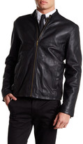 Cole Haan Smooth Genuine Leather Classic Moto Jacket