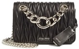 Miu Miu Small Matelasse Leather Shoulder Bag - Black