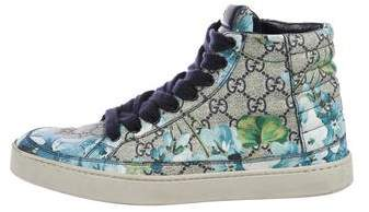 Gucci 2017 GG Blooms High-Top Sneakers