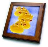 Rubber Duck 3dRose LLC ft_835_1 Toy Duck on - Framed Tiles