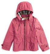 Burberry Girl's Halle Waterproof Hooded Packaway Jacket