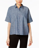 Eileen Fisher Hemp-Organic Cotton Chambray Shirt