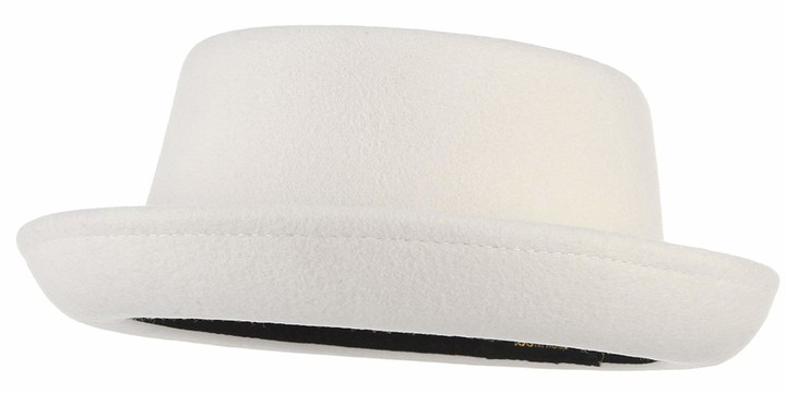 Mens Crushable Wool Hat Roll up Brim Trilby Wool Hat Pork Pie Derby Fedora Hat