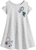 Epic Threads Patches Cold-Shoulder Dress, Toddler Girls (2T-5T), Created for Macy's