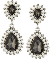 Greenbeads by Emily & Ashley Silvertone Simulated Pearl & Crystal Statement Earrings