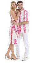 Hawaii Hangover Couple Matching Hawaiian Luau Cruise Party Outfit Shirt Dress in Men M Women L