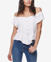Free People Mint Julep Button-Front Top