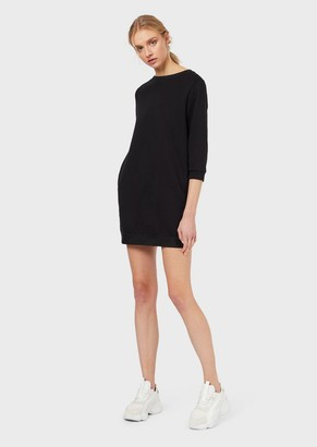 Emporio Armani Sweatshirt Dress With Elasticated Logo Waistband
