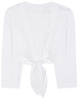 Lisa Marie Fernandez Linen tie blouse