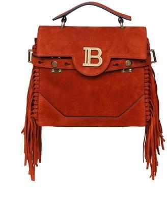Balmain Handbag B-buzz 23 In Suede Color Rust