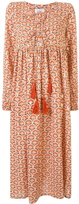Bambah Concha geometric print kaftan dress