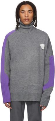 Alden ADER error Grey and Purple Wool Turtleneck