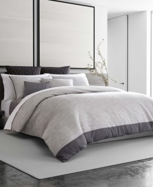 Vera Wang Grisaille Weave King Duvet Cover Bedding