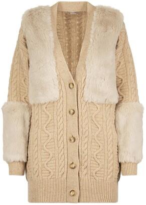 Stella McCartney Faux Fur Knit Cardigan