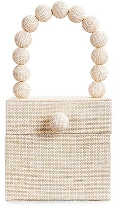 Cult Gaia Eos Beaded Top Handle Box Bag