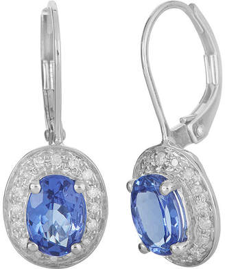FINE JEWELRY LIMITED QUANTITIES Genuine Tanzanite and 1/5 CT. T.W. Diamond 14K White Gold Drop Earrings